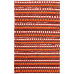 Vintage Tribal Caucasian Kilim Rug