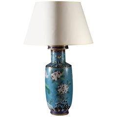 Large 19th Century Cloisonné Vase as a Table Lamp
