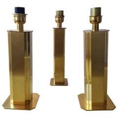 1970s Hollywood Regency brass Table Lamps