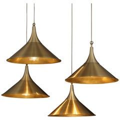 Set of Four Vintage Brass Lamps