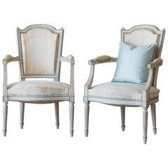 Antique Pair of Louis XVI Style Armchairs