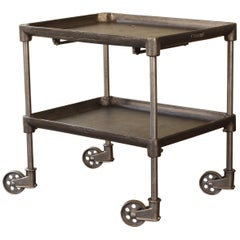 Authentic Cast Iron Tool Cart / Bar Table on Castors