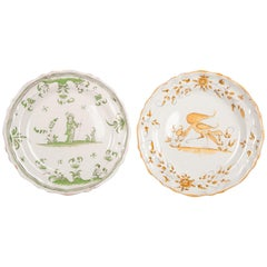 French Faience Dishes Made circa 1780