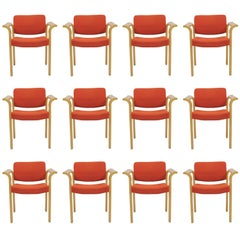 1970s Rud Thygesen and Johnny Sorensen Set of Twelve Conference Armchairs