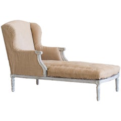 Antique Swedish Meridienne Chaise