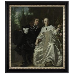 Abraham and Maria del Court, after Oil Painting by Bartholomeus van der Helst