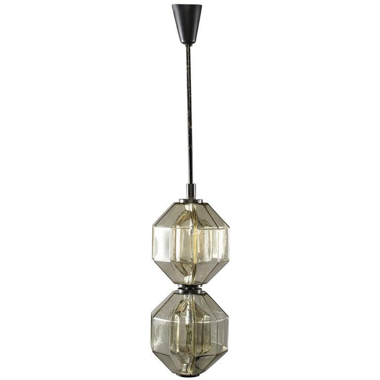 Vistosi Double Vessel Amber Glass Lantern