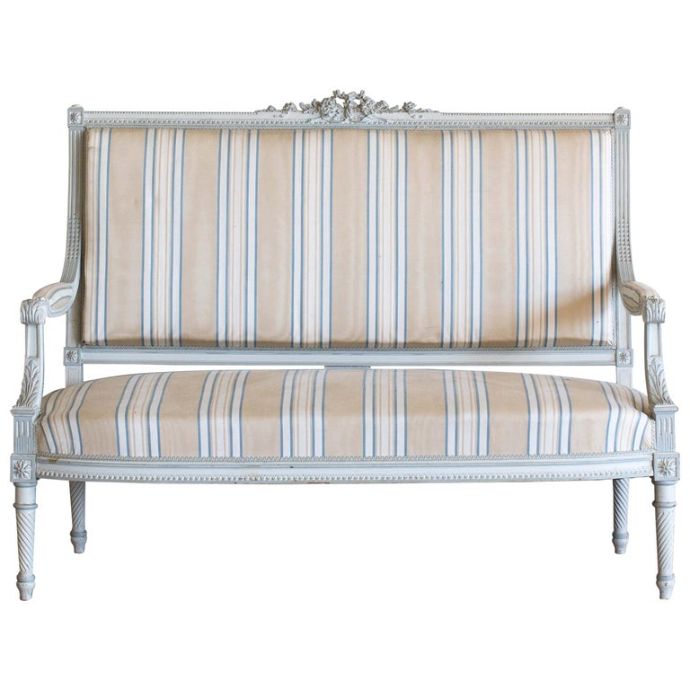 Antique French Louis XVI Style Settee