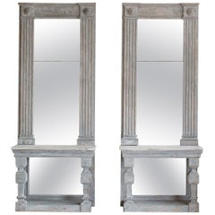 Pair of Antique Mirrored Consoles