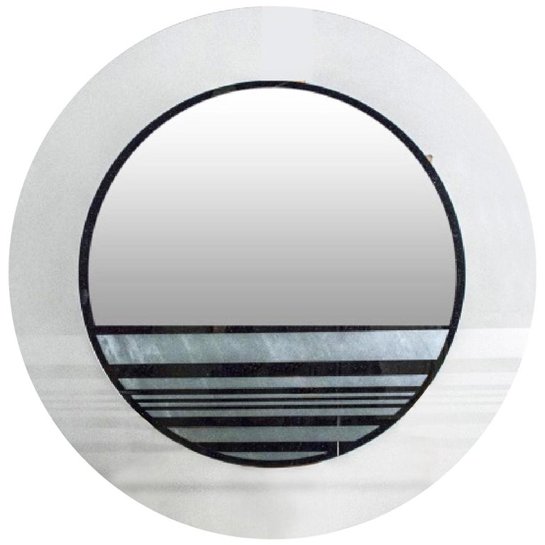 Round Contemporary Mirror For Sale