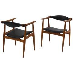 Pair of Hans Wegner CH 34 Chairs