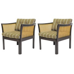 1960s Illum Wikkelsø Set of Two Mahogany Plexus Chairs by CFC Silkeborg