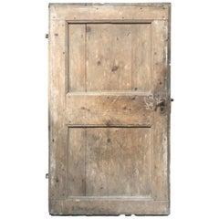 Antique European Single Wooden Farm Door