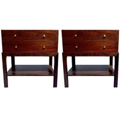 Pair of Parzinger Style Nightstands