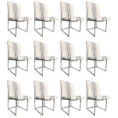 Set of 12 Milo Baughman Chairs