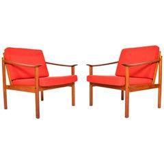 Pair of Kai Lyngfeldt Larsen Teak Lounge Chairs