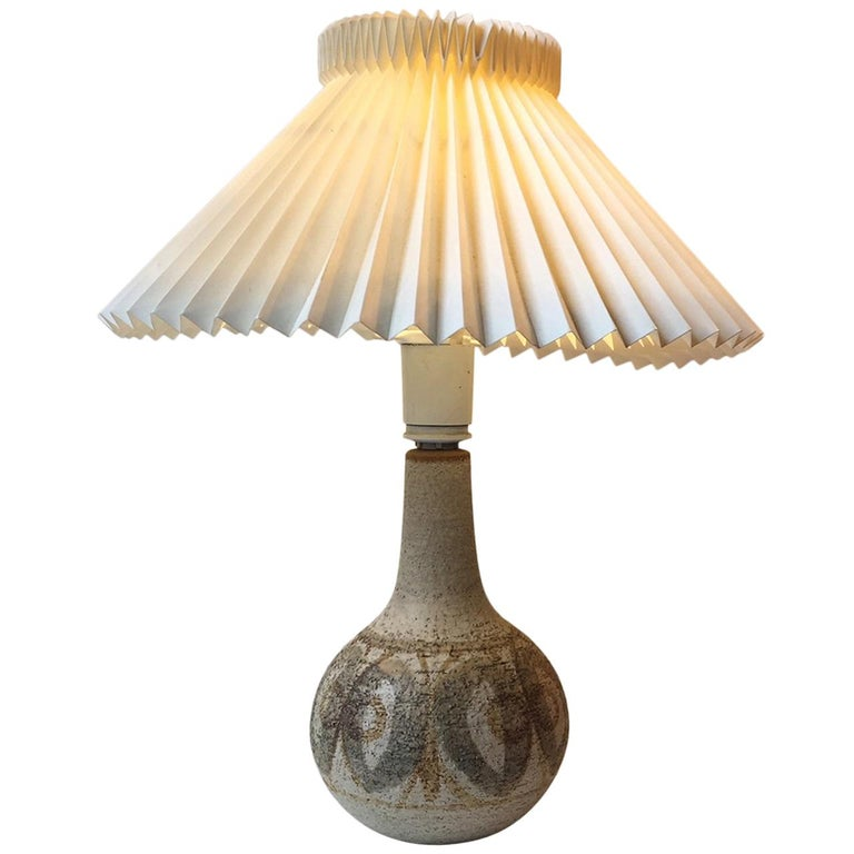 Danish Stoneware Table Lamp by Poul Brandenborg & Noomi Backhausen, Søholm 1970s