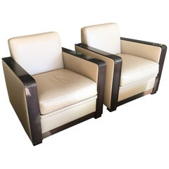 Pair of Club Chairs in the Manner of Leleu