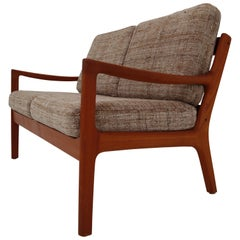 Danish Modern Senator Loveseat by Ole Wanscher for Cado