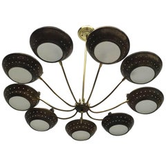 Mid-Century Modern Italian Chandelier Rare One of a Kind