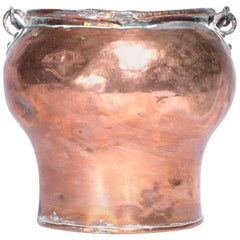 Swedish Antique Copper Pot from, Early 1900s