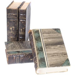 Antique Leather-bound Books from Sweden, 1920s