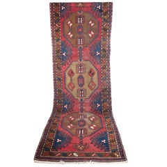Persian Rug with a Fantastic Worn Patina, Hand Knitted