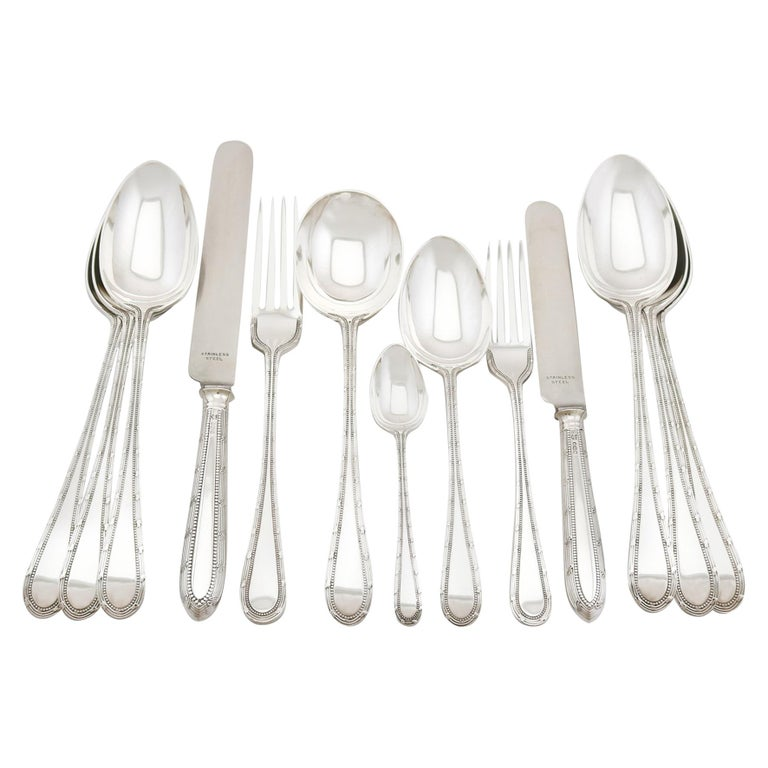 1932 Antique Sterling Silver Canteen of Cutlery for Twelve Persons