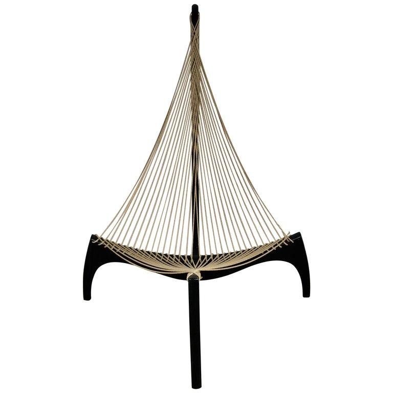 Original 1970 Jorgen Hovelskov Harp Chair Made in Denmark