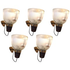 Ignazio Gardella Set of Five Sconces Model LP5 for Azucena
