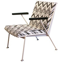 Oase Chair in Black and White Pattern by Wim Rietveld for Ahrend de Cirkel