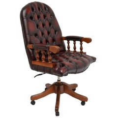 Chesterfield Swivel Desk Chair