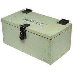 Early 20th Century Monogrammed Handmade Wooden Keepsake Box, circa 1940s