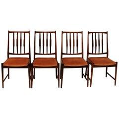 Set of four Rosewood Diningchairs Darby, Torbjørn Afdal for Bruksbo, Norway