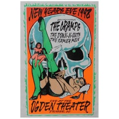 The Cramps Live New Years Eve 1998 Music Poster