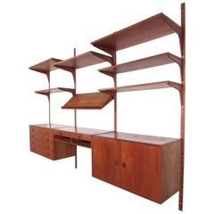 Scandinavian Modern Teak Wall Unit after Poul Cado