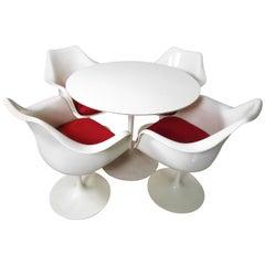 Set of Tulip Armchairs and Tulip Table by Eero Saarinen