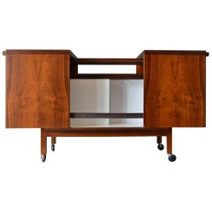 Rosewood Expandable Bar Cart by Niels Erik Glasdam Jensen, Denmark, circa 1965