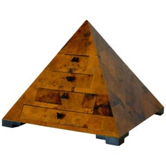 Decorative Pyramid Box in the Style of Maitland Smith