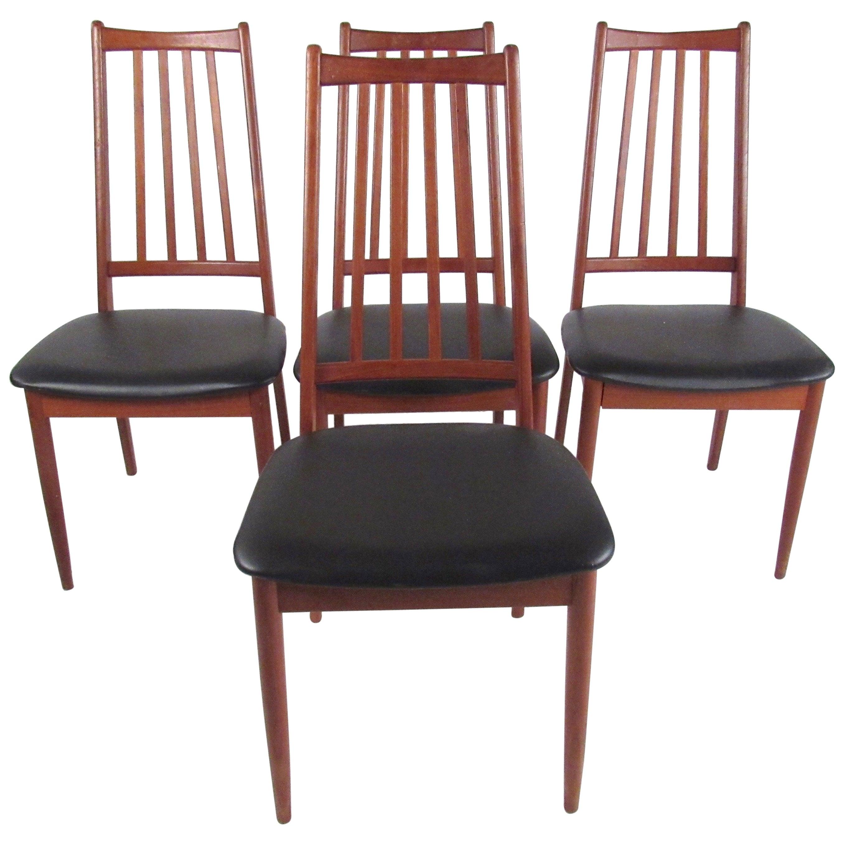 Set of Scandinavian Modern Teak Dining Chairs
