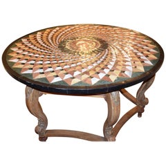 Marble-Topped Center Table