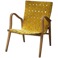 Gustav Axel Berg Bentwood Strap Lounge Chair