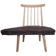Vintage Modern Style Live Edge Chair