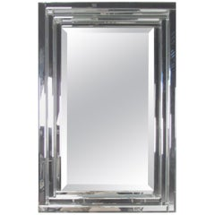 Contemporary Modern Wall Mirror with Bevelled Edge