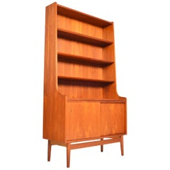 Tall Danish Modern Midcentury Bookcase in Teak by Johannes Sorth #3