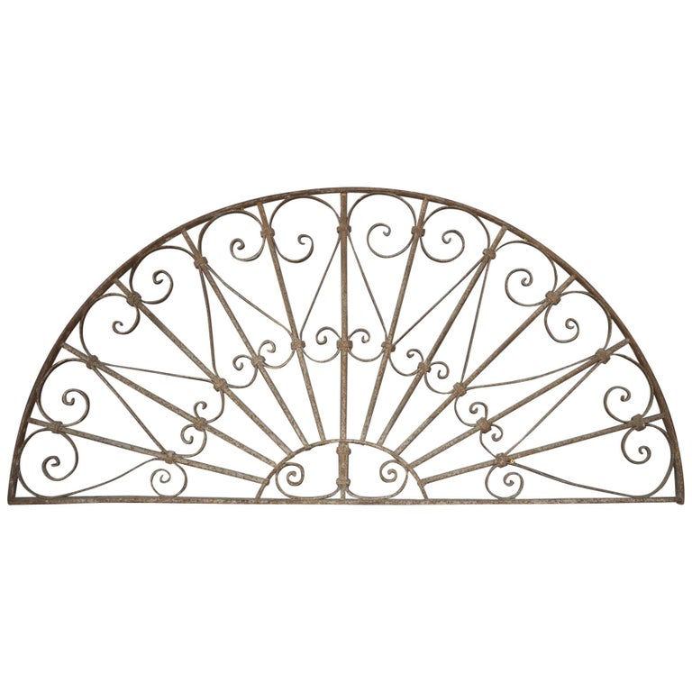 Art Nouveau Egyptian Wrought Iron Transom