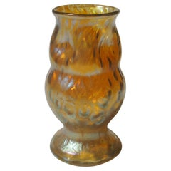 Art Nouveau Loetz Candia Diaspora Owl Vase