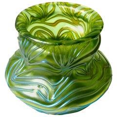 Art Nouveau Loetz Crete Formosa Vase