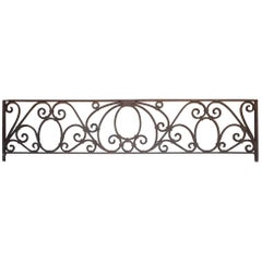 Antique American Arts & Crafts Wrought Iron Transom