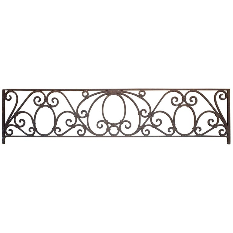 Antique American Arts & Crafts Wrought Iron Transom For Sale